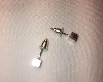 3D Cube Earrings