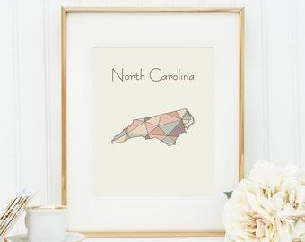 North Carolina Print Etsy