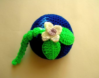 Ready to Ship Crochet Baby Blueberry Hat