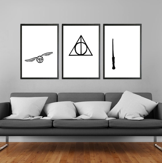 Harry Potter Minimalist Poster by CozICan on DeviantArt |Harry Potter Minimalist Art