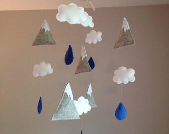 Nature Mountain Cloud Raindrop Mobile