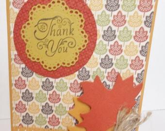 Thank You Fall Card