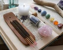 Chakra Crystals and Incense Set. Chakra Set. Chakra Stones. Incense. Gemstones. Reiki. Crystal Healing. Crystal Cleansing.