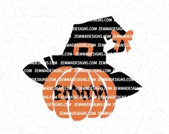 Pumpkin with bow svg - halloween bag svg -  fall pumpkin svg -  Witch hat svg - pumpkin svg file - pumpkin svg design - zemma designs