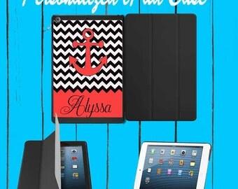 iPad Case iPad mini Case iPad Air Case Monogram iPad Case Monogram iPad Mini Case Monogram Black Chevron Anchor case iPad mini 1 2 3 4