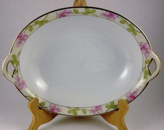 Noritake Morimura Nippon Handpainted Green Wreath Bowl.