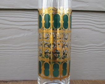Culver Emerald Scroll Vintage Martini Pitcher