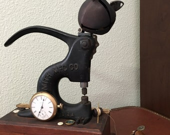 """Steampunk Sculpture, """"Cat-n-Mouse"""", Ding-a-Ling"""
