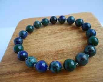 Stretch chrysocolla bracelet