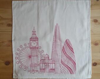 Hand-drawn 100% cotton pillow case