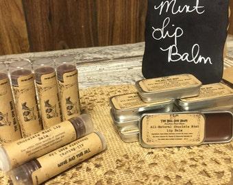 All-Natural Chocolate Mint Lip Balm