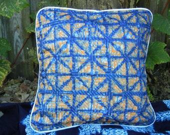 Orange Blue Batik