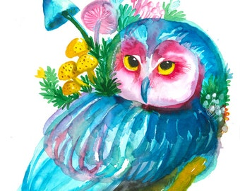 Dreamy OWL 1. Art Print.