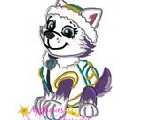 Paw Everesta Patrol Pup Applique Embroidery Machine Design 4 sizes Instant Dowload