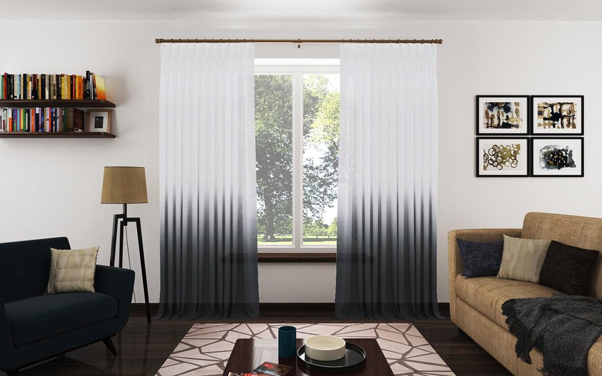 Sheer Curtains Living Room Custom Sheer Curtain Etsy