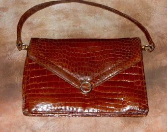 A Lovely Vintage Brown Leather Handbag, Vintage Bags, good condition, Retro,