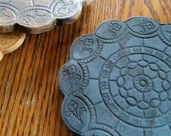 Decoration | Clay | Coasters - lace