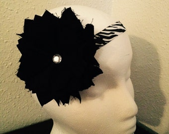 Shabby Chic Zebra Print Headband