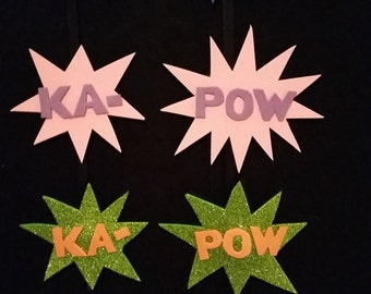 KAPOW! action hair clips