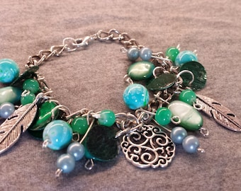 Green/turquoise bracelets