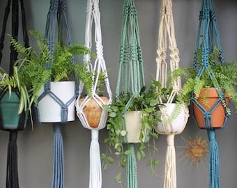 Macramé Plant Hangers in assorted neutral colours