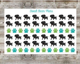 50+ Cute Black Pug Planner Stickers