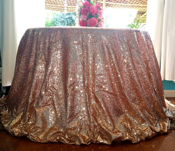 Blush Rose Pink Sequin Tablecloth Blush Rose Gold Pink Glitz