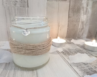 Rustic Thank You Scented Jar Candle Gift