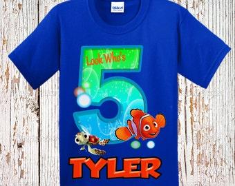 Finding Nemo Birthday Shirt - Nemo Raglan Birthday Shirt Available