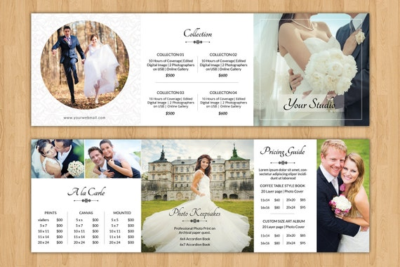 Pricing Guide For Wedding Photographers 5x5 Square Trifold Brochure
