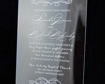 Engraved Acrylic Invitations