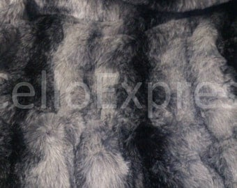 Black Striped Wolf - Various Size Animal Fur