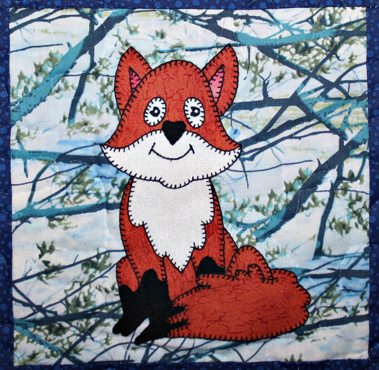 Fox Pdf Applique Quilt Block Pattern Baby Quilt Pattern