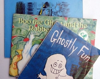 Halloween Ghost Vintage Book Set // Georgie // Ghostly Fun // Boo the Ghost // Scholastic //  Halloween Fun Not too Scary