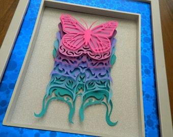 3D Paper Sculpture Metamorphosis