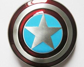 Classic Star Captain American Shield Western Belt Buckle