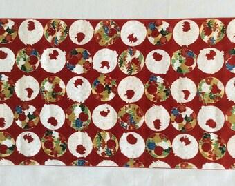 Vintage Japanese Kimono Fabric,Kimono Cutting Cloth, Flowers in a circle