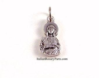 Saint Philomena Bracelet Medal Charm   Italian Rosary Parts