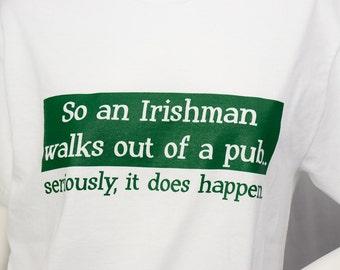 Irishman screen printed t-shirt