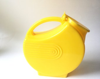 Mid Century Yellow Plastic Water Pitcher Vintage
