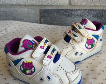 Barney shoes, Barney dinosaur baby shoes, Barney and friends, Barney sneakers