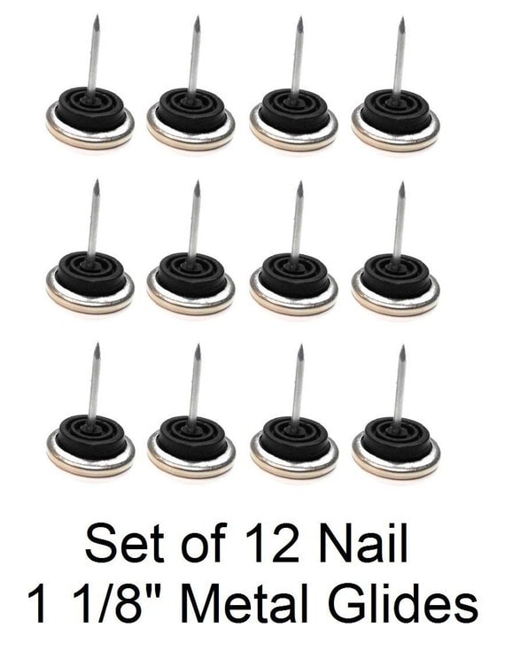 1 1 8 Furniture Chair Nail Rubber Cushion Metal Bottom Feet Glides 12 Pieces From