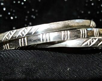 Bangle Bracelets 3 Sterling Silver