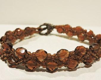 Bracelet Beadwork Brown