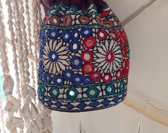 Dreamy Embroidered Pouch Bag