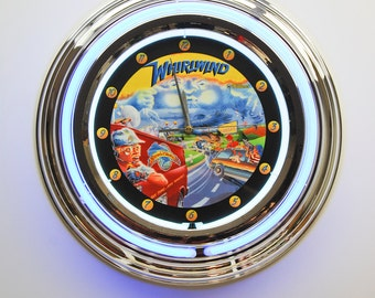 Pinball Officially Licensed Premium Neon Wall Clock 5 - Ideal Pinball Gifts