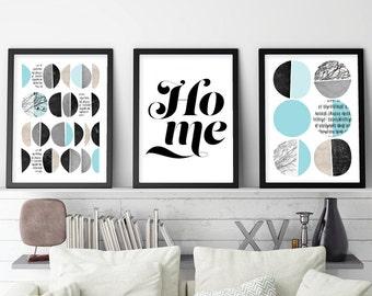 Set of 3 Prints, Scandinavian Print Set, Scandinavian Print, Scandinavian Art, Scandinavian Modern, Art Print Set, Downloadable Print Set