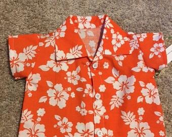Hawaiian Shirt Infant-Floral Print