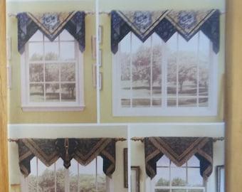 Sewing pattern Simplicity 5865 Box top window treatments new uncut