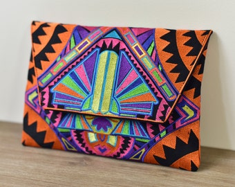 Tribal Clutch - Orange